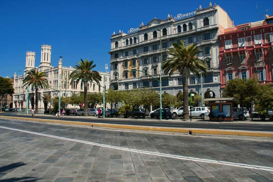 Paseo marítimo de Cagliari.