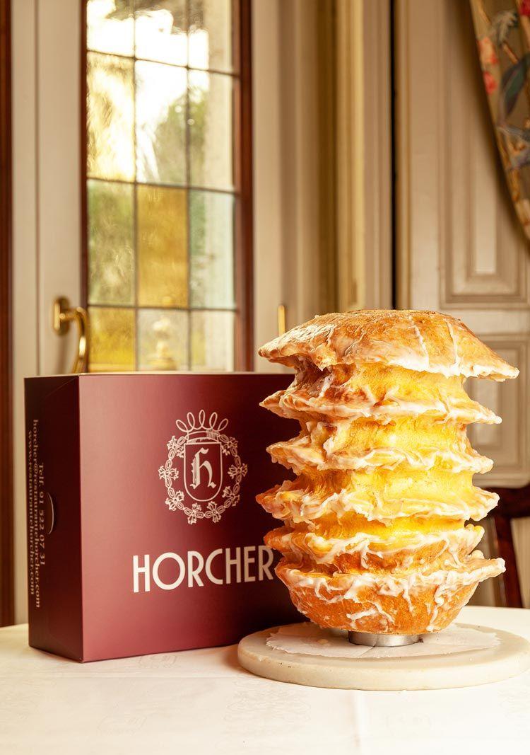 Baumkuchen postre de chocolate de horcher