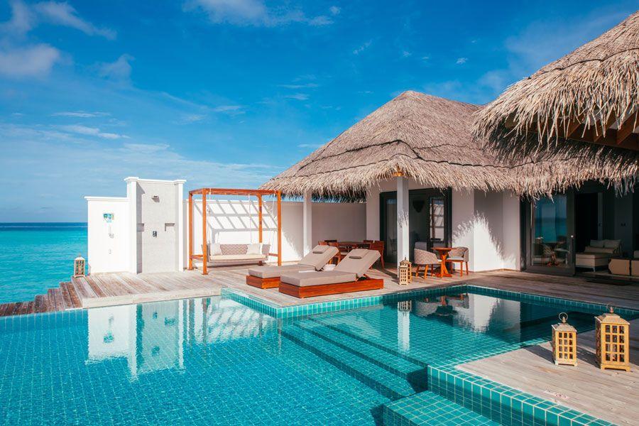 Villas sobre el agua en Maldivas