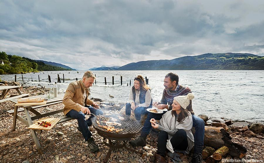 barbacoa divertida en loch ness