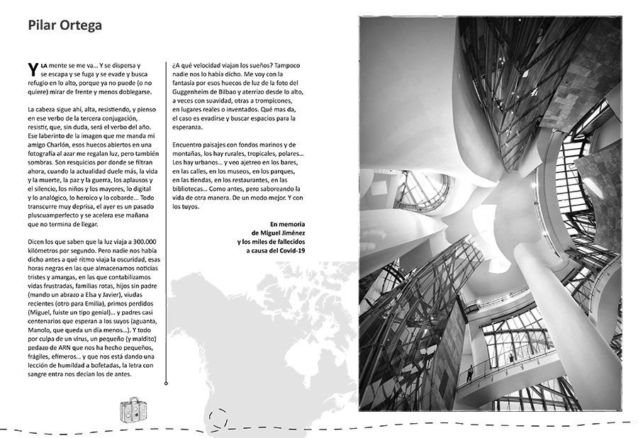 pilar ortega, etheria magazine, viajes en confinamiento