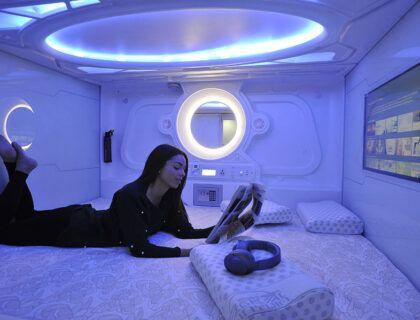 Optimi Rooms, hotel capsula de Espana, hotel original en bilbao, planes bilbao con amigas