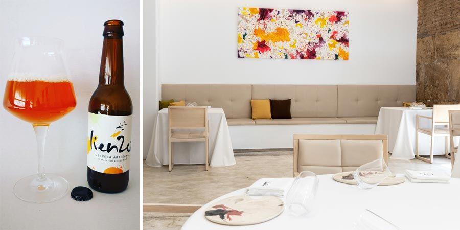 restaurante lienzo y cerveza de miel en valencia