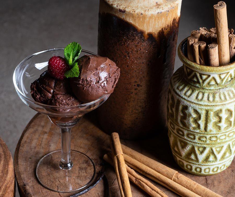 helado de chocolate del restaurante santita de madrid