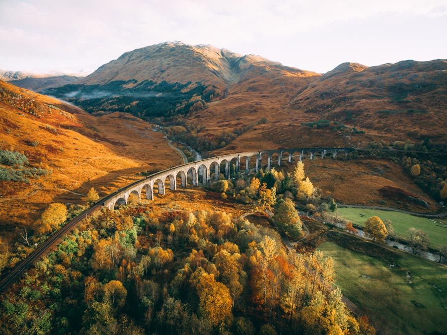 viaducto de glenfinnan en fort William en escocia