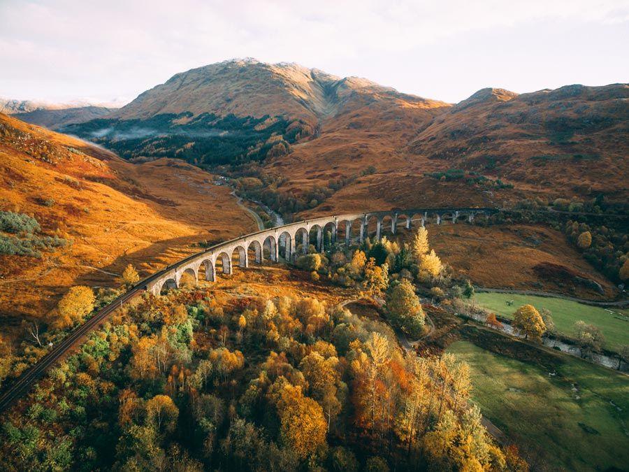 viaducto de glenfinnan en fort William en escocia