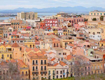 panoramica desde mirador de santa croce de Cagliari