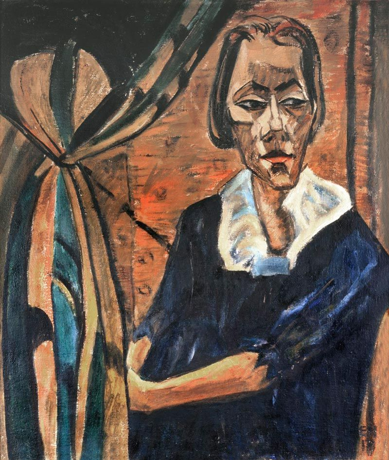 Cabeza de mujer Erich Heckel expresionismo thyssen