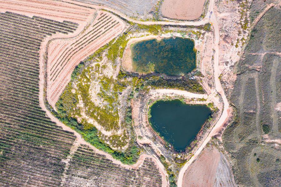vista aerea de campos de villar de arnedo