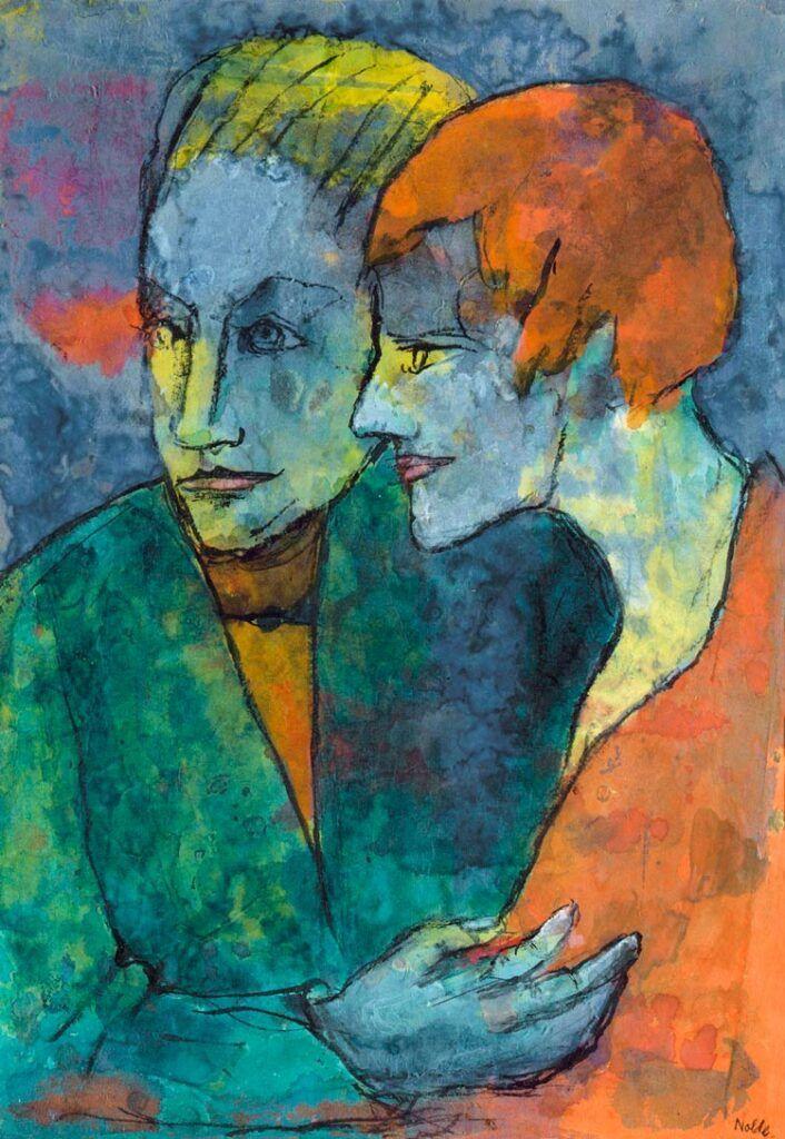 joven pareja emil nolde en museo thyssen