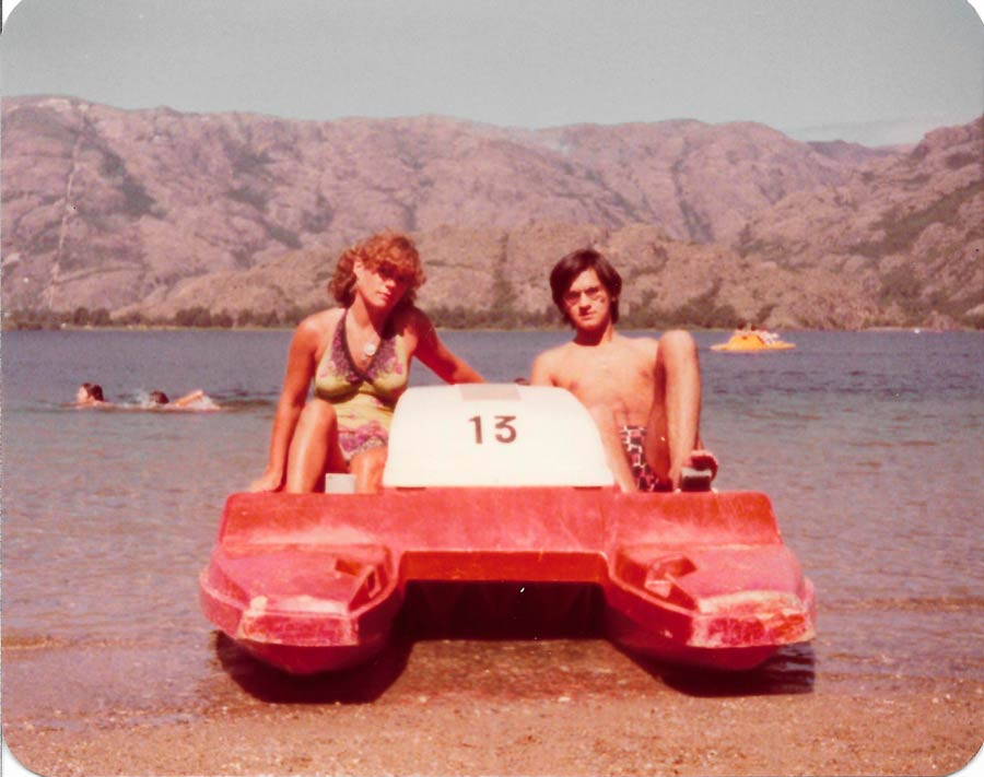 turista en lago sanabria 1979