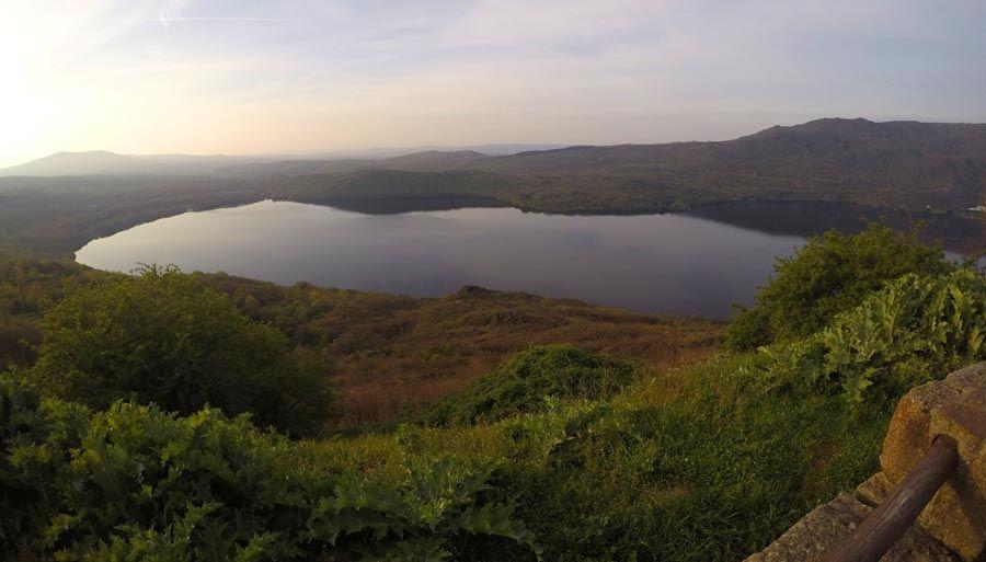 lago sanabria al atardecer