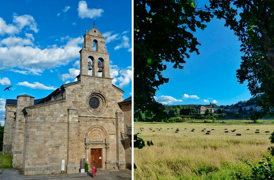 monasterio san martin de castaneda y prados alrededor