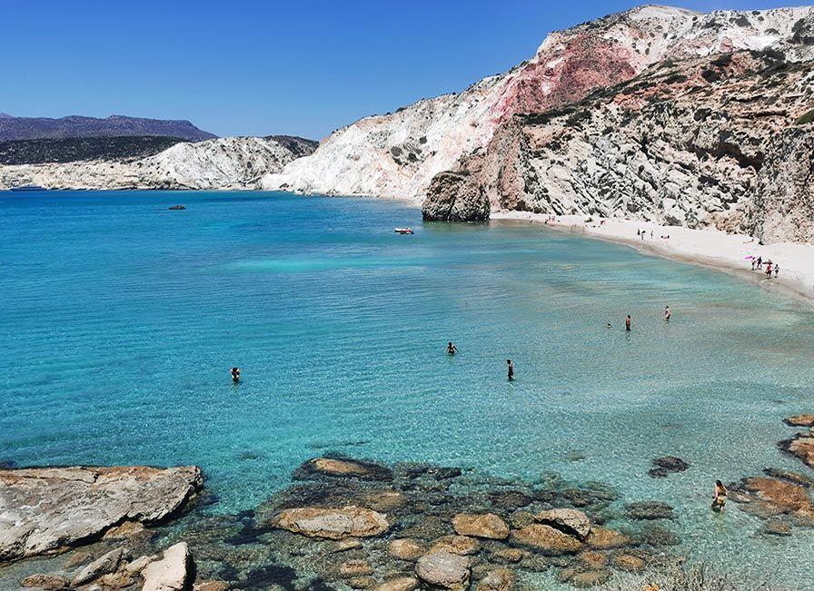 Fyriplaka playas mas popular de Milos
