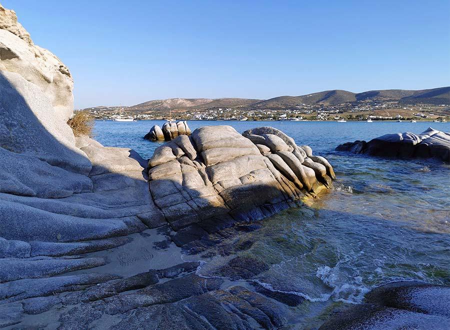 Kolympithres la playa mas bonita de la isla de paros