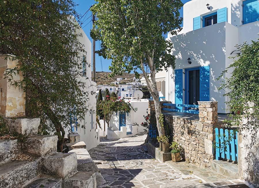 Lefkes pueblo de la isla de Paros
