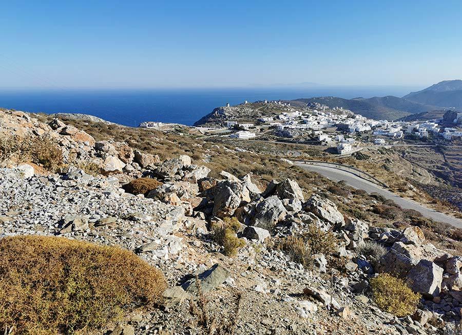 Amorgos es la isla mas oriental de las cicladas
