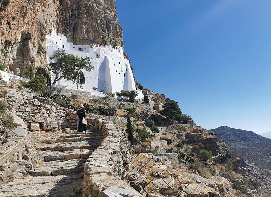 Monasterio de Hozoviotissa en isla amorgos