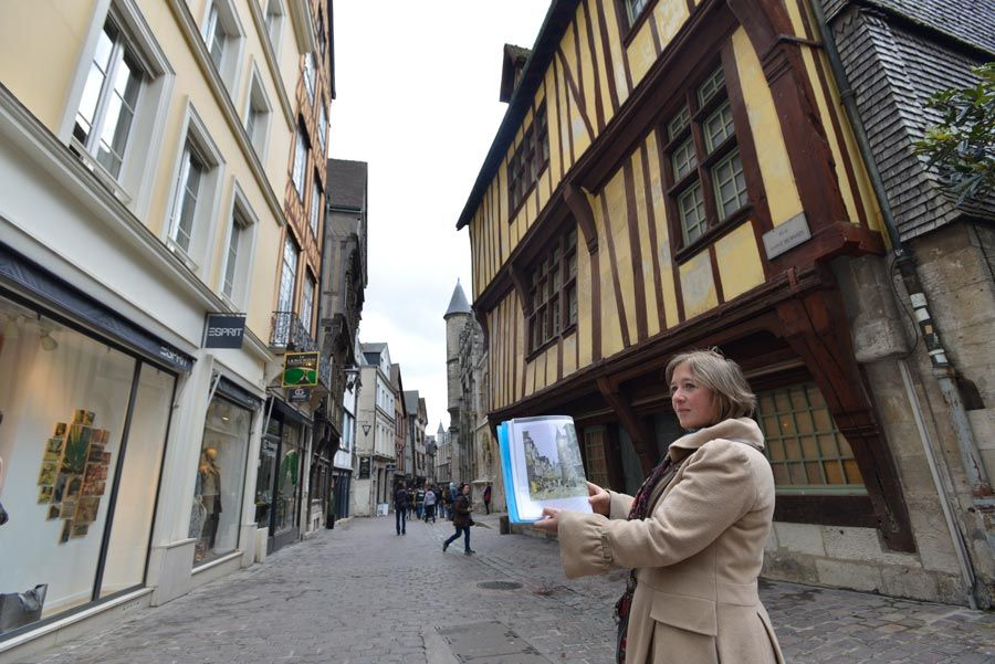 paseo impresionista en Rouen