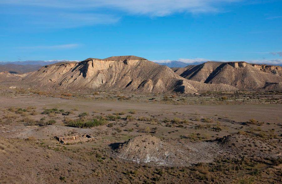 Paisaje del desierto de Tabernas de Almería
