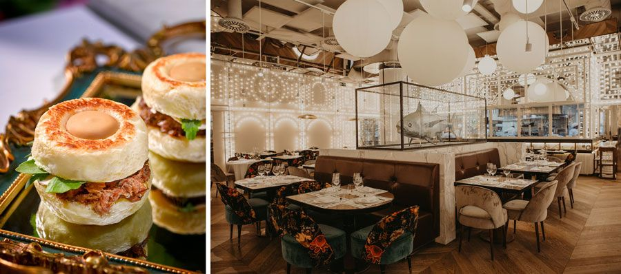 Salon de restaurante Dani Garcia brunch madrid