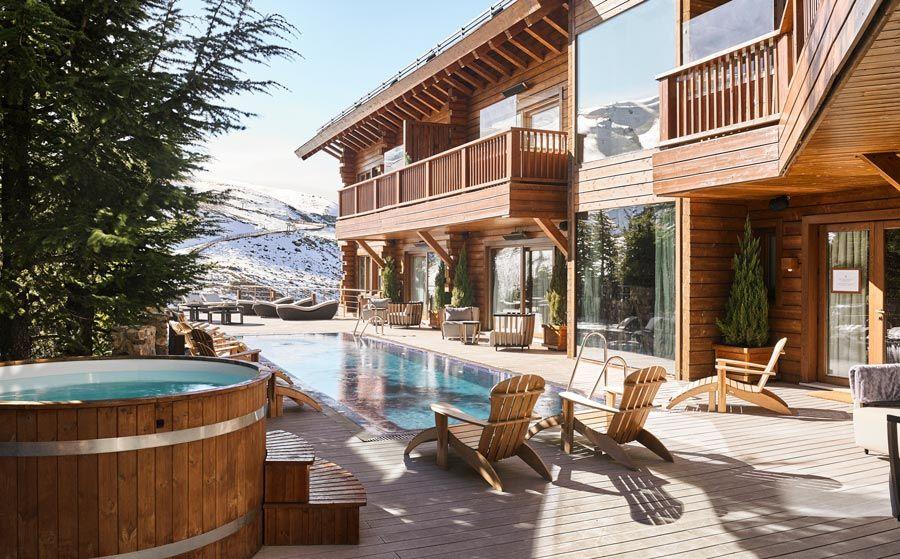 piscina de el lodge sky and spa
