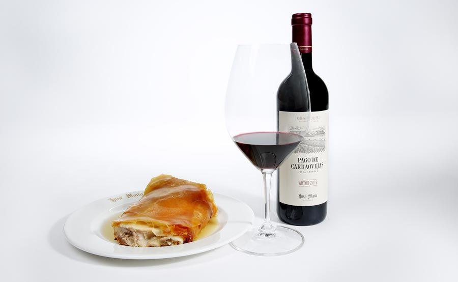 cochinillo y vino pago carraovejas Segovia