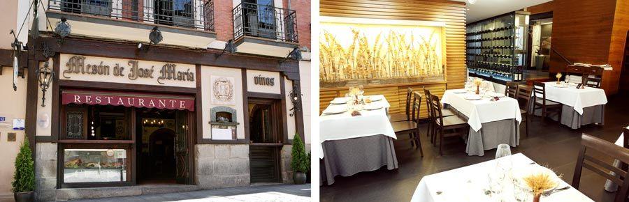fachada y comedor restaurante jose maria Segovia