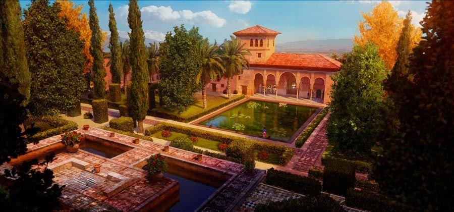 jardines del partal en la alhambra tadeo jones