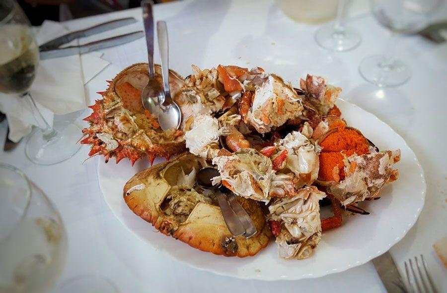 marisco en restaurante bao de vigo
