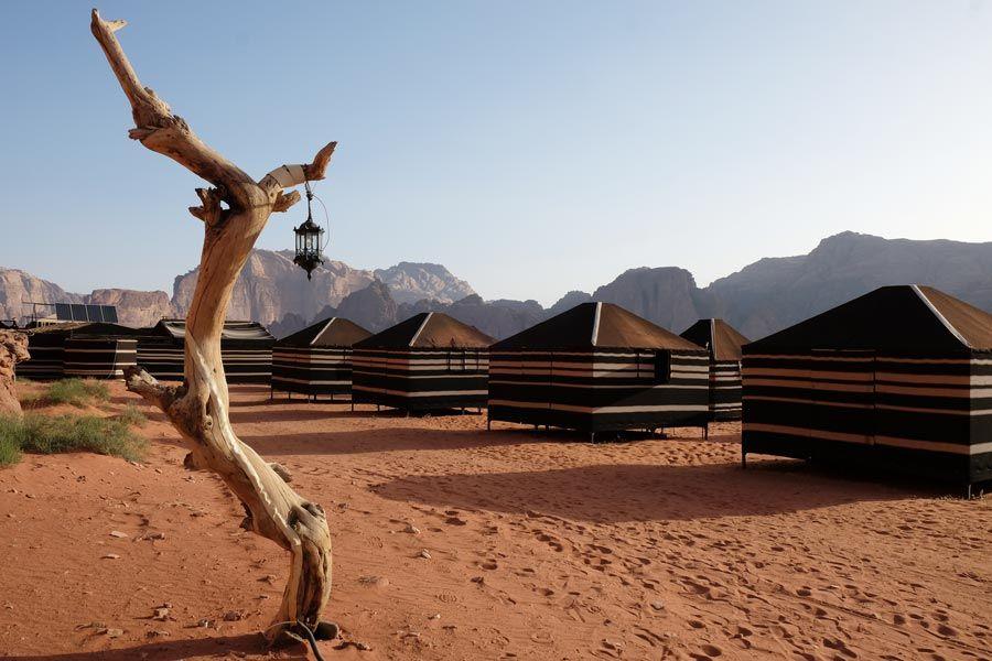 campamento desierto de Wadi Rum jordania