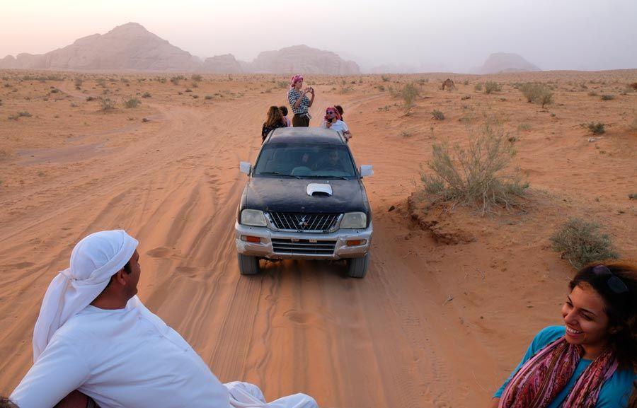ruta todoterreno por Wadi Rum