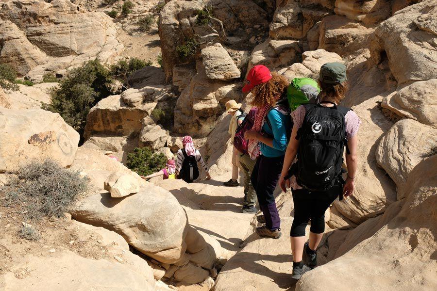 trekking little petra, ruta Jordania