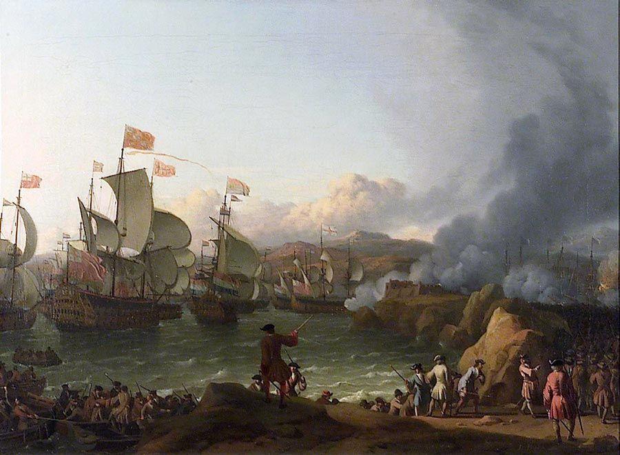 batalla de rande en la isla de san simon