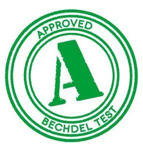 sello del test de bechdel