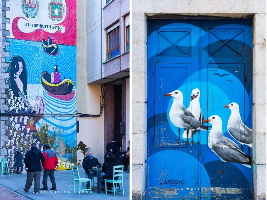 murales en santona ruta arte urbano