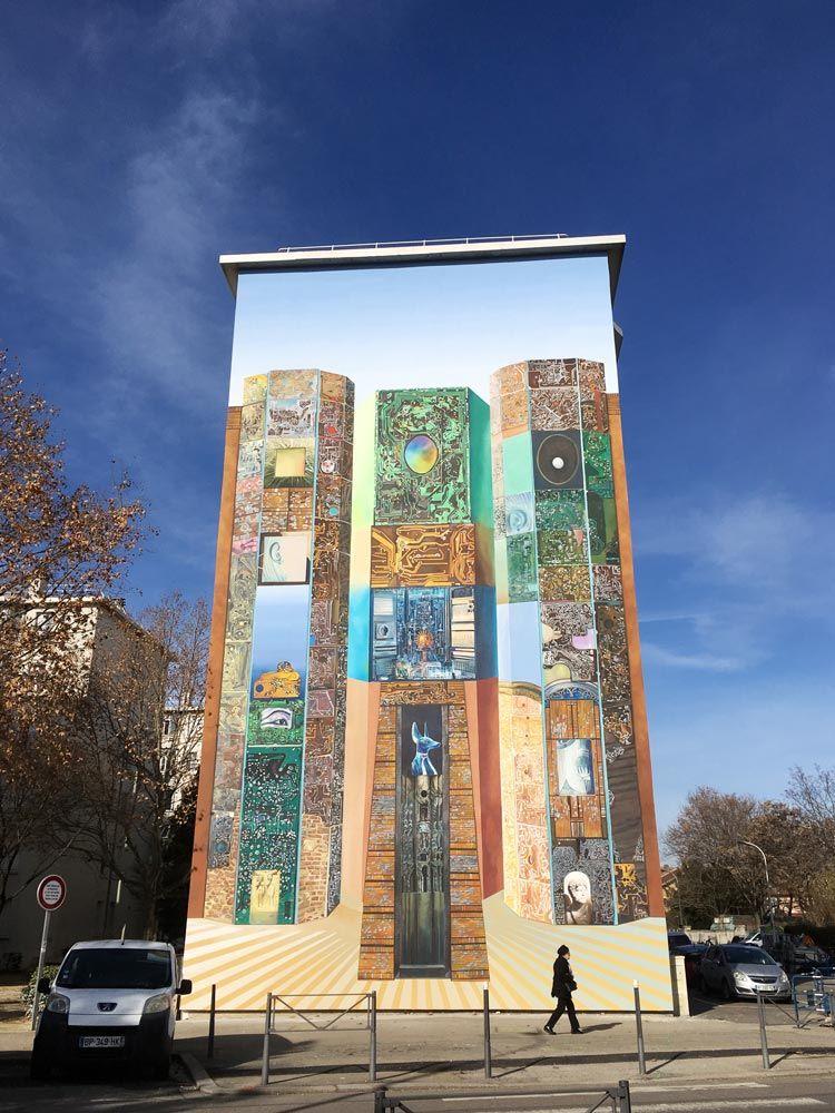 mural Egipto en lyon