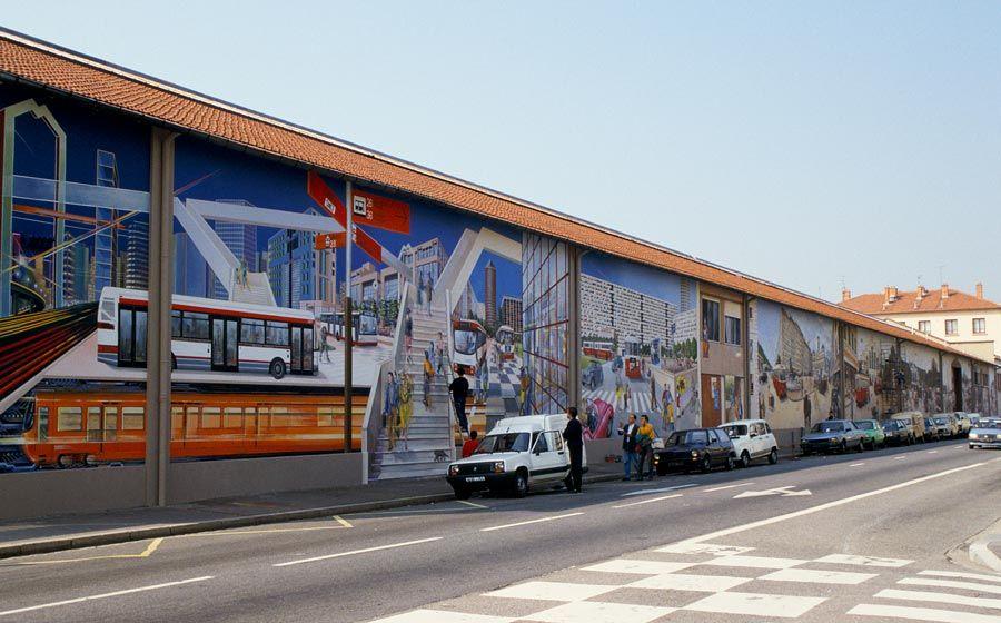 mural transportes de Lyon
