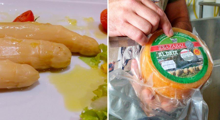 esparragos de navarra y queso idiazabal