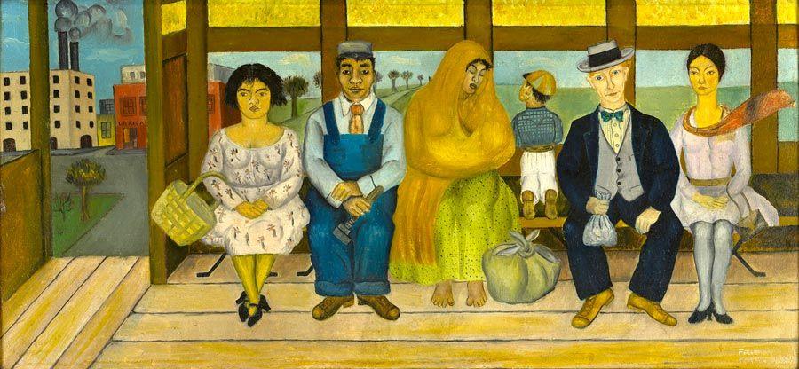 el autobus obra de Frida Kahlo