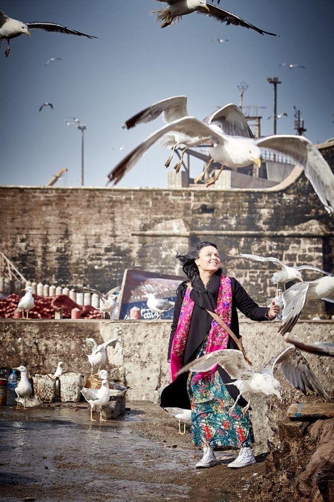 Najat Kaanache en el puerto