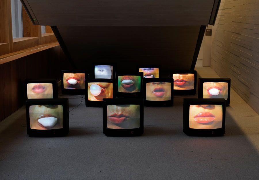 Zhang Peili en museo de arte de caceres