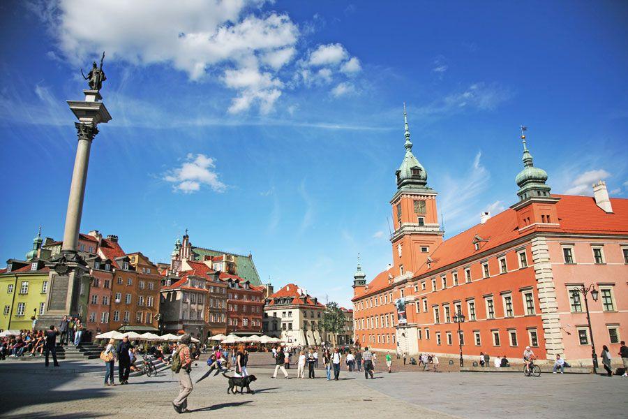 castillo real y columna Segismundo en Varsovia