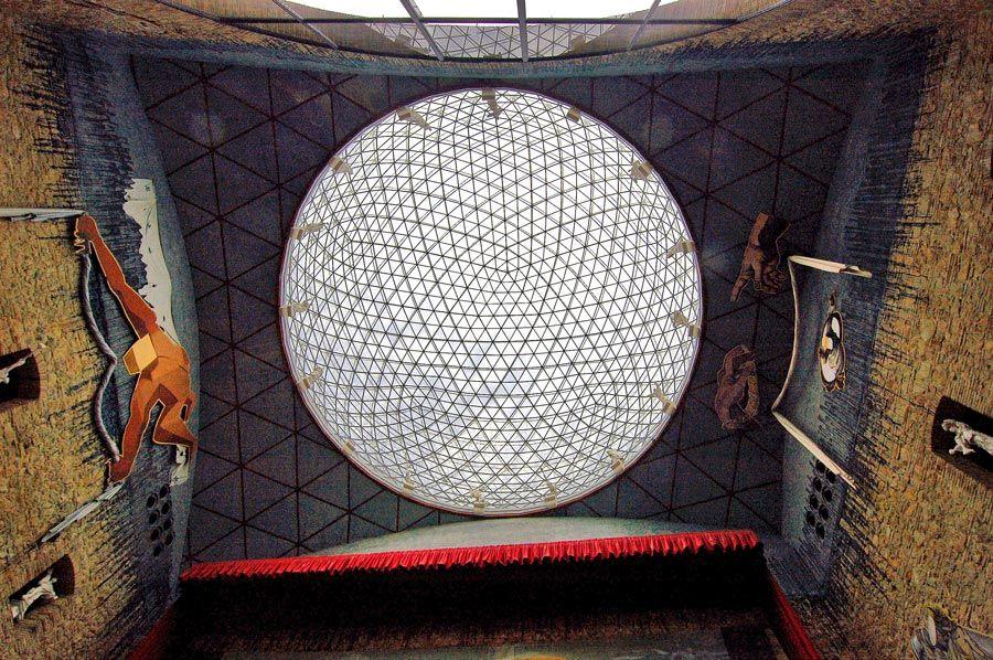 cupula geodesica del teatro dali figueres