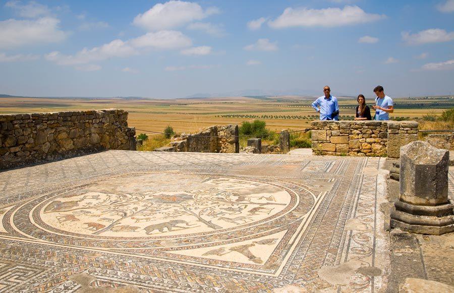 ciudad romana volubilis en marruecos