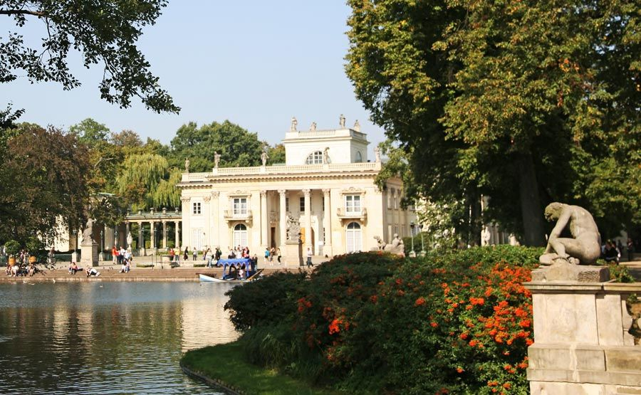 palacio lazenki en Varsovia