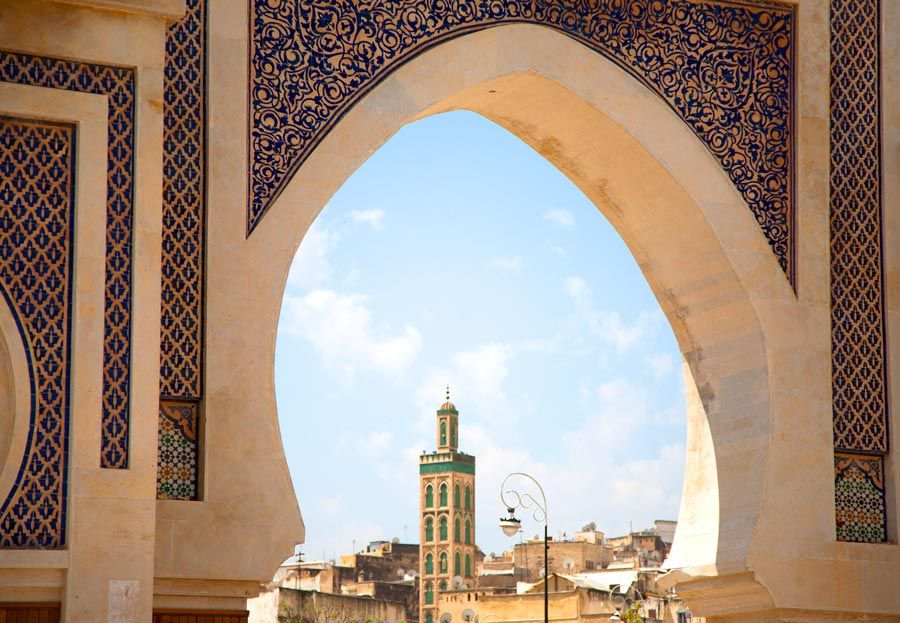 puerta de entrada a la medina de fez