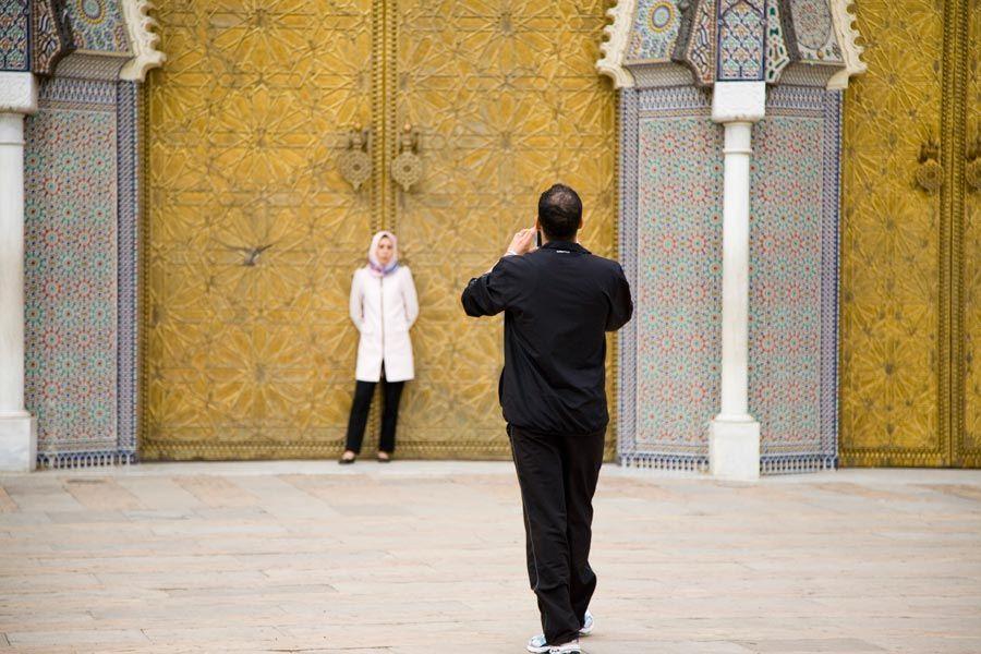 puertas doradas del palacio real de fez
