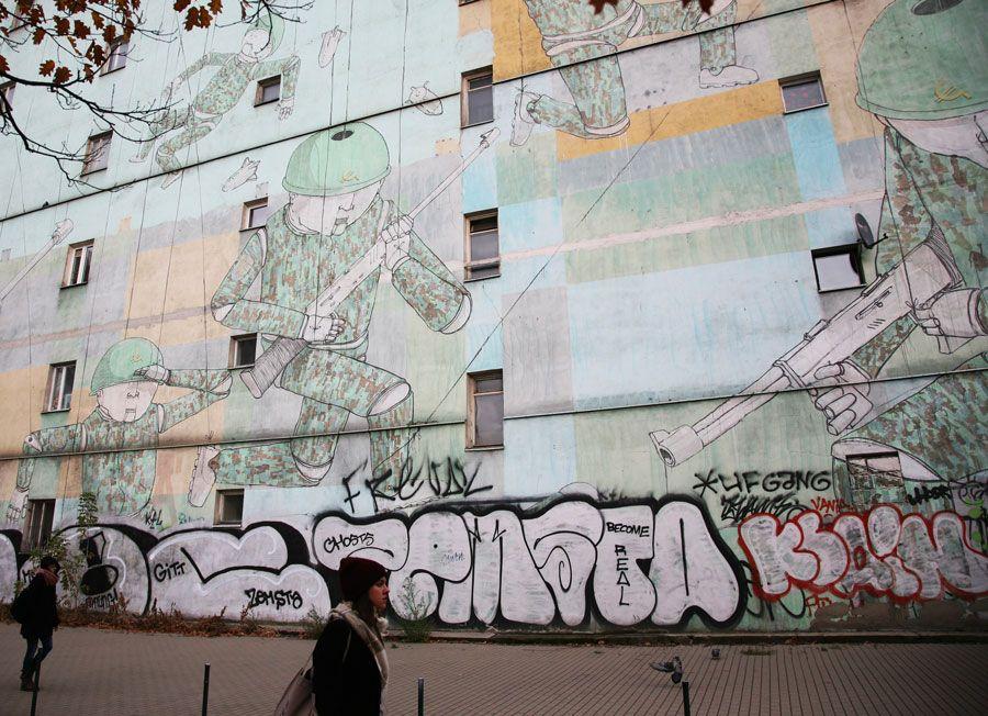 arte urbano en Varsovia