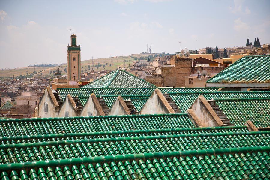 panoramica de los tejados de fez en marruecos
